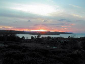 Sunset over Gairloch bay